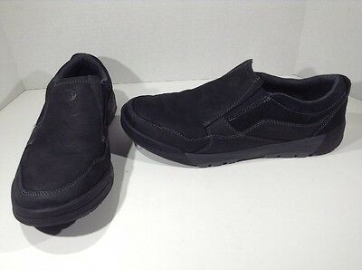 MERRELL Mens Berner Moc Black Slip On Casual Walking Shoes Size 11 ZF-632