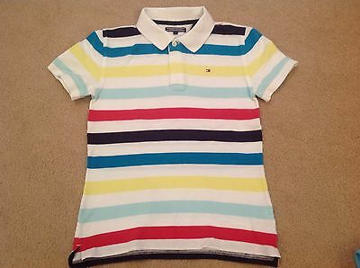 """TOMMY HILFIGER Boys Polo Shirt size 152 (8-10 years) 15"""" chest - VGC"""