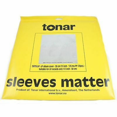 """Tonar 12"""" LP Record Outer Sleeves (pack of 25)"""