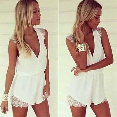 Women Ladies Clubwear Chiffon Playsuit Bodycon Party Jumpsuit Romper Trousers AR
