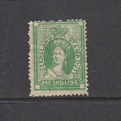 Queensland 1871-72 1/- Postal Fiscal with wmk SGF18 MM cat £130 see comments