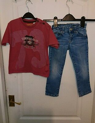 Benetton boys jeans & Timberland t-shirt age 3 years outfit