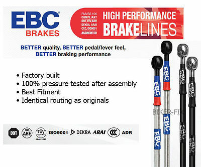 FRONTS ONLY BMW E36 Wezmoto Stainless Steel Braided Brake Hoses Lines