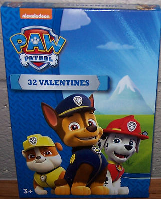 Valentines Day Cards (Box of 32) Nickelodeon Paw Patrol