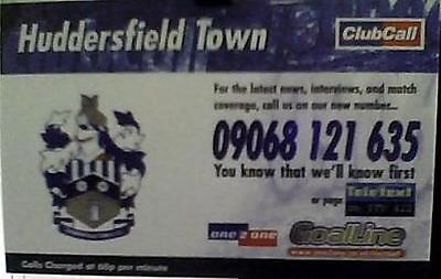 Huddersfield Town 1999-2000 Club Call Card With Fixture List Excellent Condition