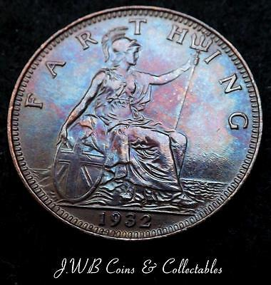 1932 George V Farthing Coin Great Britain - Ref; T/M,