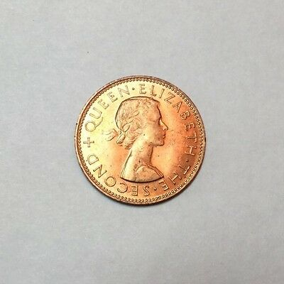 NEW ZEALAND 1964 1/2 Penny  coin uncirculated