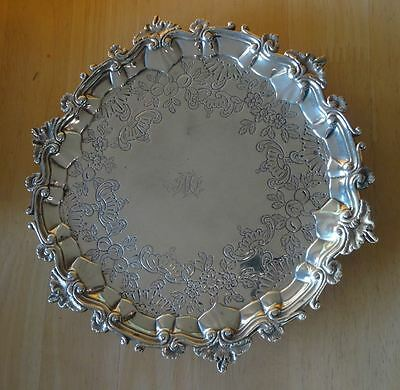 ANTIQUE GEORGE III, SCOTTISH STERLING SILVER SALVER TRAY, HOWDEN EDINBURGH c1800