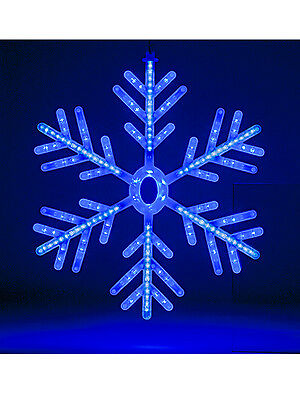 Snowflake Rope Light LED Christmas Indoor Outdoor Decoration 60cm Blue White