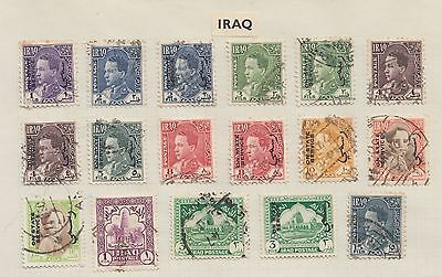 """£1.49 start -  An old album page of """"IRAQ"""" issues."""