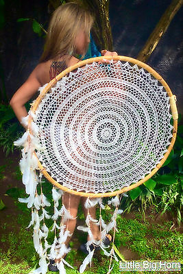 Traumfänger Dreamcatcher megagroß  KOLLEKTION 2017 MISS JAVA FEDERHAUBE