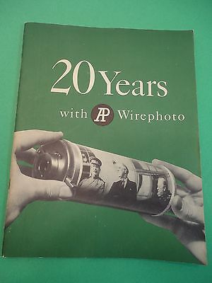 1955 20 Years with AP Wirephoto ~ History Newspaper Photography Photojournalism