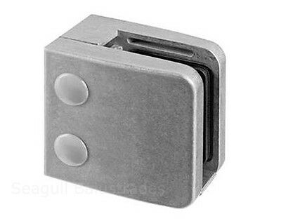 Raw Square Glass Clamp 55mm x 55mm Zintec Zamak Bracket Clip: ideal for painting