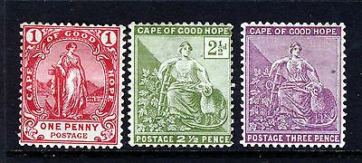CAPE OF GOOD HOPE South Africa 1892-98 Wmk CABLED ANCHOR SG 56, 59a & 64 MINT