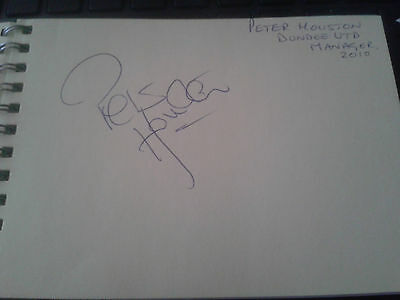 Dundee Utd Peter Houston HAND SIGNED page
