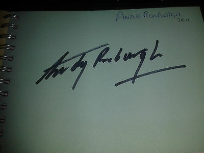 Scotland/Falkirk Andy Roxburgh HAND SIGNED page
