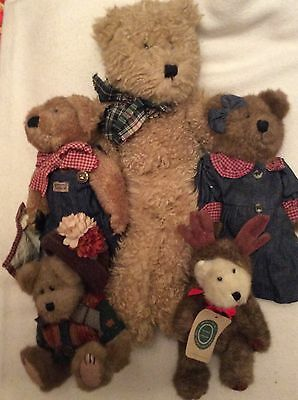 Bundle 6 BOYDS JOINTED BEARS & FRIENDS J.B. BEAN & ASSOCIATES 1980s