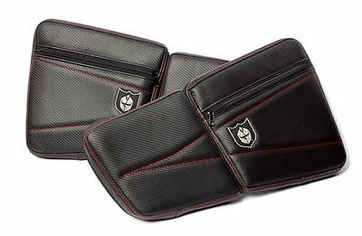 Pro Armor Front Door Stock Knee Pads w/Storage BLACK RED Stitching Polaris