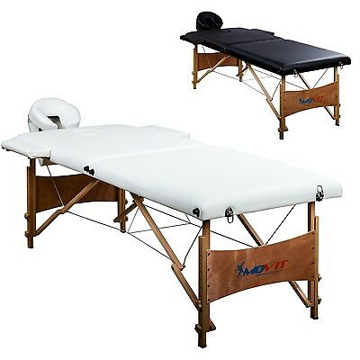 MOVIT Mobile Massage table incl. Accessories and Bag white
