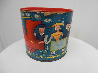 Vintage 1957 Cadbury's Milk Finger Chocolate Advertising Tin - Train Picture