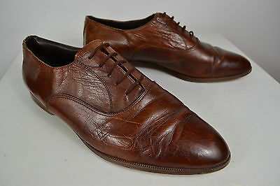 VINTAGE 1980's BROTHERS BROWN LEATHER ENGLISH MADE MEN'S SHOES SIZE 9