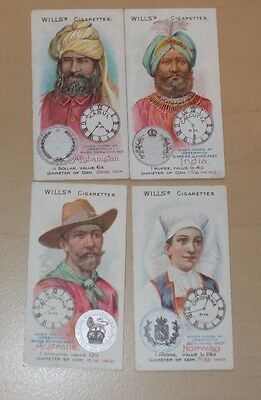cigarette cards WILLS TIME & MONEY IN DIFFERENT COUNTRIES LOT E