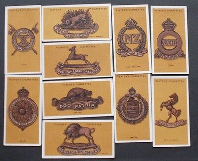 cigarette cards PLAYERS COLONIAL & INDIAN ARMY BADGES