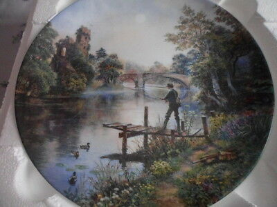 """Mint With Coa, Fly Fishing Plate From The Series """"gone Fishing"""""""