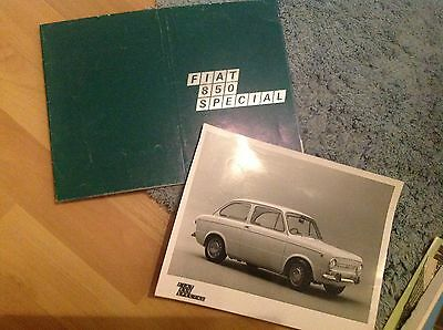 Fiat 850 Special   Brochure. 1968.     With Press Photo