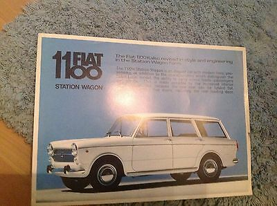Fiat 1100   Station Wagon Brochure. 1966