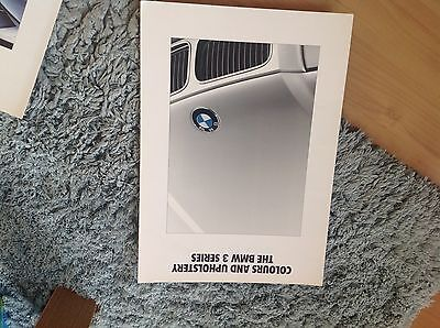BMW 3 SERIES COLOUR and UPHOLSTERY  BROCHURE 1991