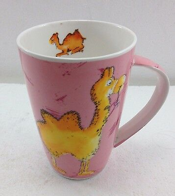 Camel Pink China Mug Cup Coffee Tea Cocoa Oversize 18 oz Made in India