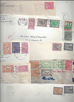 SAUDI ARABIA 1950 70's COLLECTION OF 17 ARAMCO COVERS W/AIR MAIL DAM & PETROLEUM