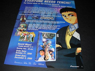 TENCHI MUYO Everyone Needs Tenchi Vintage ANIME Promo Ad mint condition