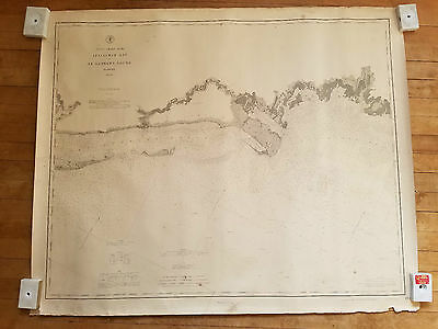 Original 1883 Map Chart Apalachee Bay & St. Georges Sound Florida No Reserve