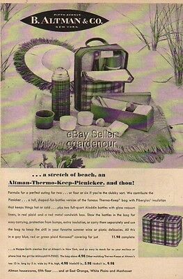 1954 B. Altman Department Store NY Thermo Picnicker Ad Vintage Advertising MMXV