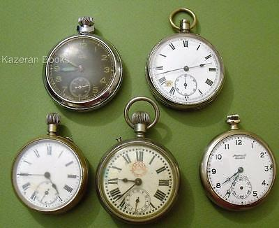 Assorted Fob Pocket Watch Watches For Spares Ingersoll USA - Smiths Empire &c