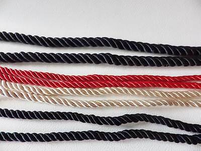 5 metres x 6mm & 10mm Barley Twist Rope Cord Jewellery, Craft, Clothes, Sewing