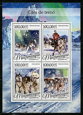 Mozambique 2016 Sled Dogs  Sheet Mint Nh