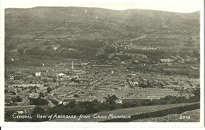 General View Of Aberdare From Craig Mountain 1948 R.a. Real Photo Postcard