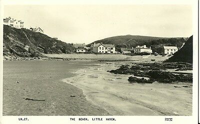Little Haven The Beach The Castle Hotel 1962 Frith Real Photo #lh27 Postcard