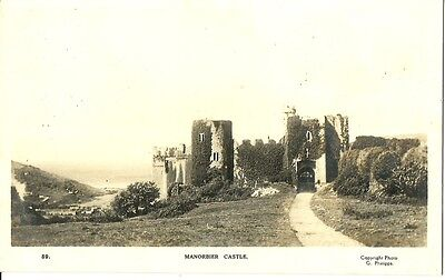 Manorbier Castle C1930 G Phillipps Real Photo Postcard