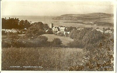 Newport Pembrokeshire 1955 Valentine Real Photo Postcard