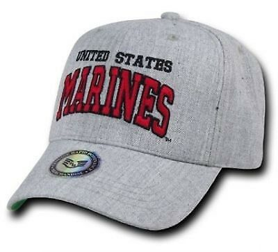 US Heather Grey USA MARINES USMC Military Army Cap Mütze