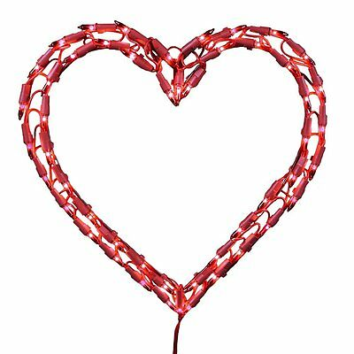 Red Valentine Heart w/ 50 mini lights electric - Let Love Shine New in Box