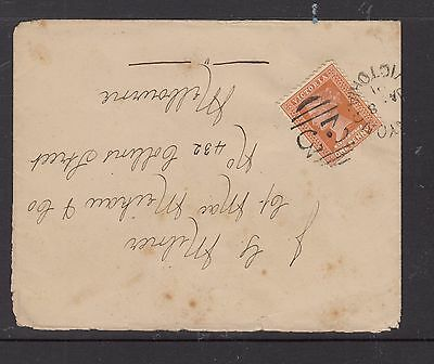 1891 1d Queen Victoria on ENVELOPE Numeral Cancel to  Melbourne
