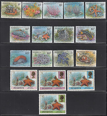 Penrhyn 1993-1998 Marine Life  Sc 420-435A  complete mint never hinged