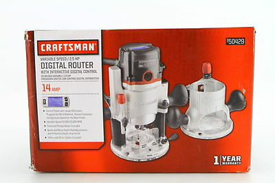 New! Craftsman – 50429 2.5Hp Variable Speed Digital Wood Router 10K To 25K Rpm