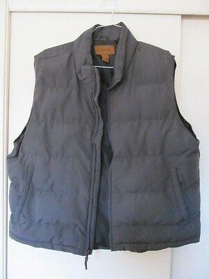 ST. JOHN's BAY - MEN's Charcoal Grey Polyester Filled Puffer VEST - SIZE XL