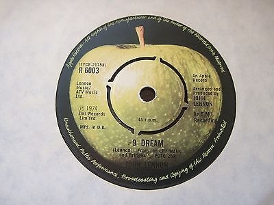 John Lennon # 9 Dream Apple UK 45